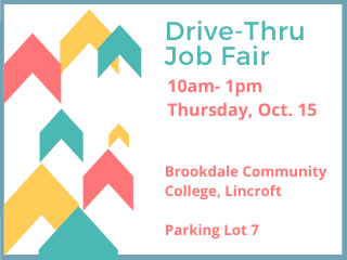 Drive-Thru Job Fair Oct. 15