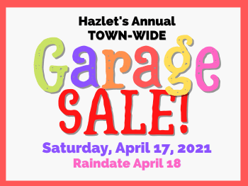 Town-Wide Garage Sale April 17, 2021